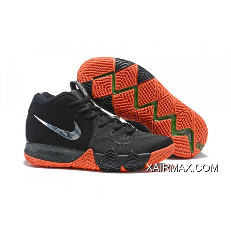 "super popular 5c27d d37ee Nike Kyrie 4 ""Halloween"" Black/Metallic Silver-Orange New Release"