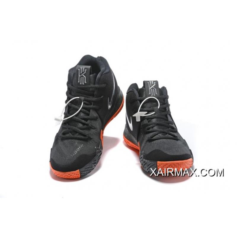"173b9c7bb7cbff ... Nike Kyrie 4 ""Halloween"" Black Metallic Silver-Orange New Release ..."
