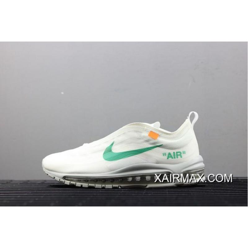 24da8398cc New Release Men OFF-WHITE X Nike Air Max 97 Menta Running Shoe SKU: ...