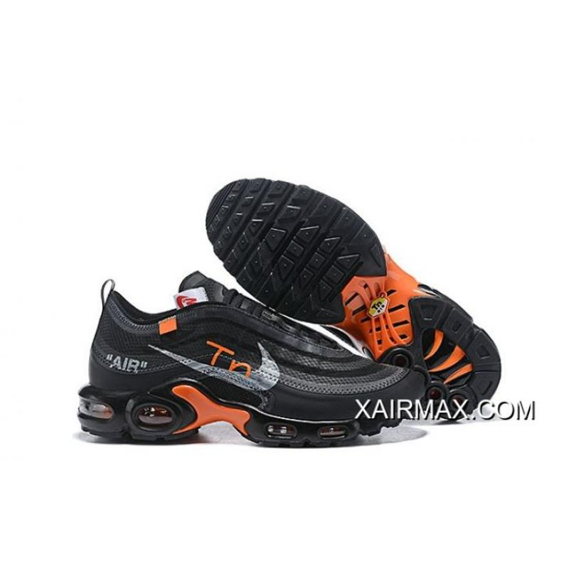 new product 0efac c0d34 New Style Men OFF-WHITE X Nike Air Max 97 TN Running Shoes SKU:31082-466