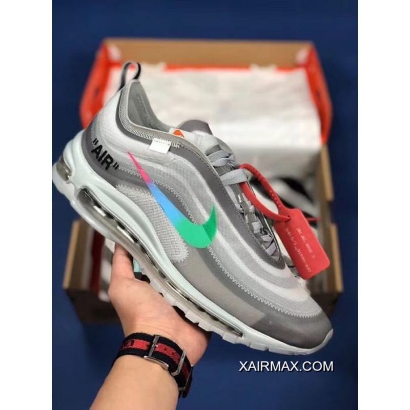 Women OFF WHITE X Nike Air Max 97 Menta Sneaker SKU:6094 320 Best