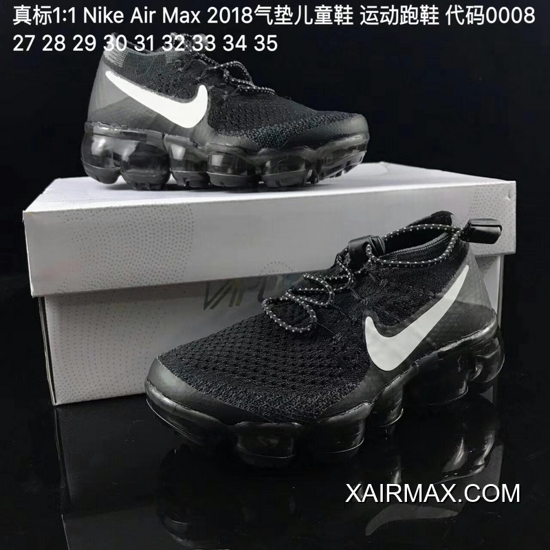 brand new 7d7c4 67001 Kids Nike Air VaporMax 2018 Flyknit Running Shoe SKU:134476-222 Outlet
