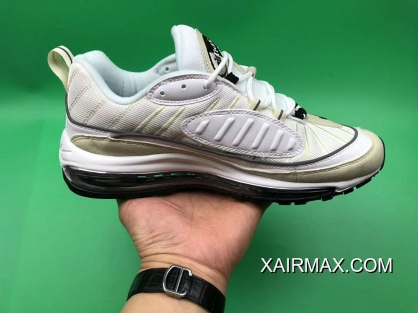 new products cd6b9 b7d8c Best Women Nike Air Max 98 White Fossil Sneakers SKU:31761-205